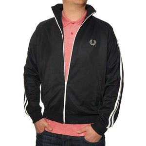 Fred Perry Double Tape Stripe Track ZIP Up Jacket